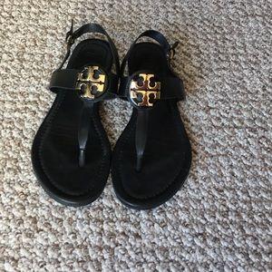 TORY BURCH Bryce Flat Sandal Size 7
